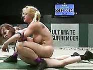 Hot Lesbians With Round Sexy Asses And Big Boobs Fight In Wrestl