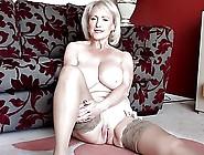 Blonde Big Titty Mature Masturbation Session 'hd