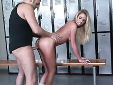 Dazzling Brynn Tyler Gets Her Snatch Drilled Hard In The Locker
