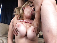 Big Tits Blonde Offers Blow Job