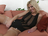 Mature Nl - Cute Housewife Playing With Her Wet Pussy On The Cou