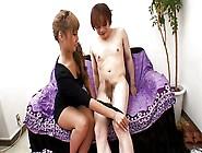 Japanese Girl Long Nails Handjob...