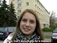 Brunette Veronika Picked Up On Czech Streets