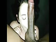 Cock Hungry Brunette Gets Long Big Black Dick To Suck And Lick