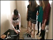 Group Of Asian Mistress Use Human Toilet Forced