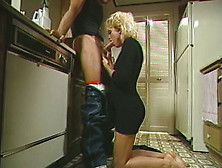 Exciting Retro Porn Clip With Gorgeous Blonde Babe Sucking Dick