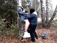 Girl Is Bound And Raped In The Woods