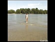 Beach Pee Girl