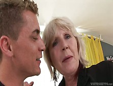Amateur Granny Sucks A Young Cock And Gets Hardcore Pussy Action
