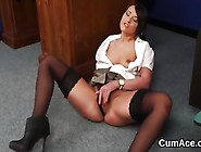 Nasty Centerfold Gets Cum Shot On Her Face Eating All The Loa