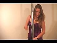 Purple Corset Chubby Bbw Ex Girlfriend Pole Dance