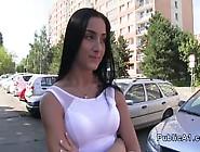 Fake Agent Fucks Brunette In Car In Public