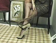 Shoe Dangling Foot Tease
