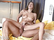 Slender Teen Is Having A Very Intense Orgasm While Riding Her Ne