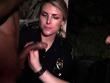 Police Squirt And Capri Cavalli Police First Time Car Jackin