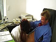 Horny Granny Is Having Sex At Work Instead Of Doing Her Job And