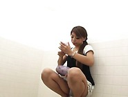 Hairy Asian Filmed Peeing