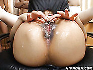 Horn-Mad Japanese Lady Gets Her Hairy Pussy Stretched By Some Du