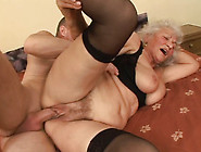 Busty Granny In Nylon Stockings Riding Hard Dick On Top In Kinky