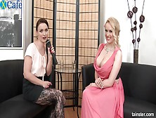 Busty And Nasty Lesbian Ally Style Fuck And Pee On Each Othe