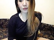 Lonely Japanese Wearing Pajamas In Solo Masturbation