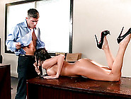 Porn Star With Big Tits Experiences Steamy Hardcore Office Sex