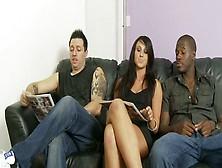 Lewd Talkative Brunette Seduces Several Dudes For Giving Them St