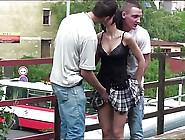 Young Petite Teen Girl Public Street Gang Bang Sex On Bridge