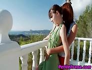 Lesbian Teens Sucking Dildos Outdoors