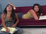 Shy Lesbo Teen Gets Seduced By Bbw Cutie