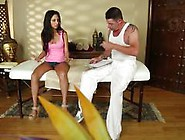 Sticky Facial For Naughty Wife At Massage Parlour