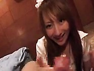 Beautiful Asian Babe Sucks A Thick Pole And Takes It Deep D