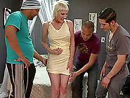 A Mature Woman Gets Gangbanged And Loves Every Single Cock