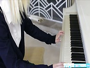 Beautiful Sammie Tempt Her Piano Teacher To Fill Her Pussy With