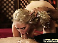 Sensual Massage Makes Young Blonde Ready To Gag On Huge Dick