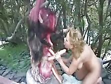Extremely Funny Sex Video She Is Assulated By A Strange Thing