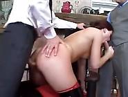 Beautiful Sex Slave Girl In Gangbang Sucking Dick
