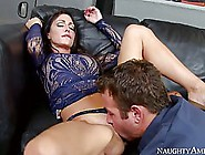 Gorgeous Woman With Big Tits,  Jessica Likes To Lift Her Legs Hig