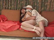 Tied Up Asian Enjoys Bdsm