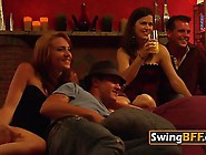 Adorable Swingers Enjoy Kiss And Lick Their Pussies On Floor
