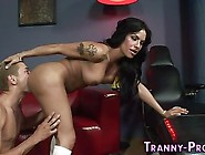 Transsex Babe Rides Cock