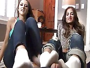 2 Girls Stinky Sockjob