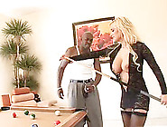 African Stud Cums On Blonde Milf's Face After Fucking Her Roughl