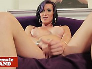 Kinky Solo Tgirl With Nipple Piercings Tugs