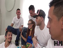Carolina Sweets Gets Messy In Her First Gangbang