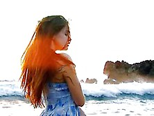 The Redhead Bimbo Olivie Nubiles Horny Softcore On The Coast Of