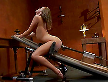 Black pussy fucked by machine