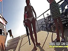 Amazing Bikini Cameltoe Teen Close-Up Voyeur Spycam