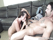 Buxom Bitch Pounded On Couch