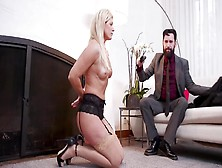 Young Girl Helps Submissive Stepmom Satisfy Dangerous Bearded Ma